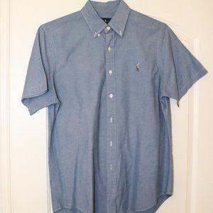 Short Sleeved Ralph Lauren Buttoned Down Chambray